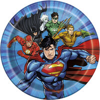Justice League Small Paper Plates - 8 Pack
