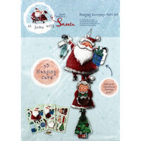 At Home with Santa Hanging Decoupage Card Kit