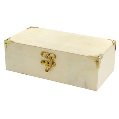 Small Rectangular Wooden Box image number 3