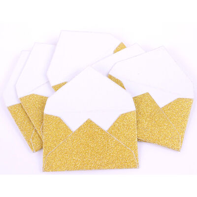 Gold Mini Glitter Envelopes - 6 Pack image number 2