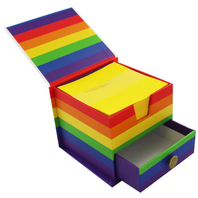 Rainbow Memo Cube image number 2