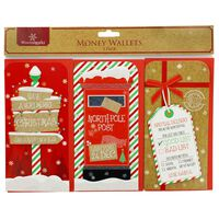 Christmas Money Wallets: Pack of 3