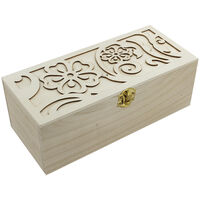 Decorate Your Own - Flower Laser Cut Wooden Box