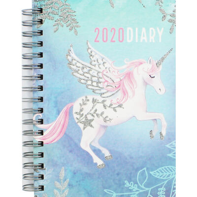 A6 Wiro Unicorn 2020 Week to View Diary image number 1