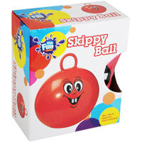Red Smiley Face Space Hopper