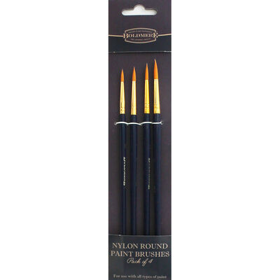 Nylon Round Brush Set - Pack Of 4 image number 1
