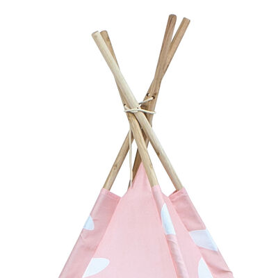 Pink Hearts Teepee Tent image number 2