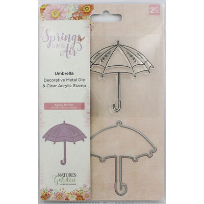 Crafters Companion Spring is in the Air Stamp and Die - Umbrella image number 1