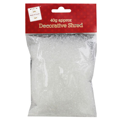 Silver Decorative Shred - 40g image number 1
