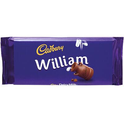 Cadbury Dairy Milk Chocolate Bar 110g - William image number 1