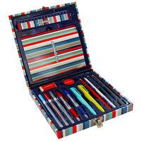 Scribblicious 15 Piece Blue Stationery Set