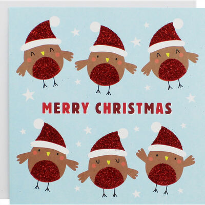 Cute Robin Christmas Cards - Pack Of 10 image number 1