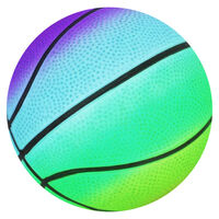 Mini Rainbow Inflated Sports Ball: Assorted