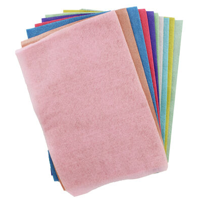 Sizzix A4 Pastel Felt Sheets - 10 Pack image number 2