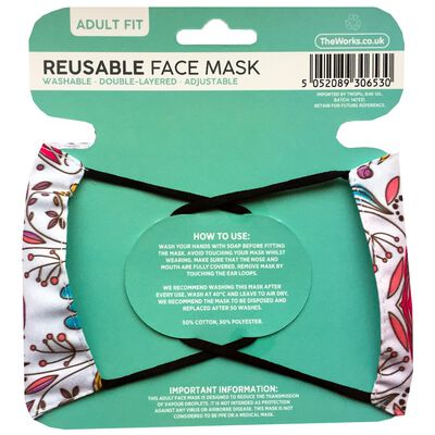 Paisley Reusable Face Mask image number 2