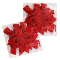 Red Ribbon Bows - Pack Of 30