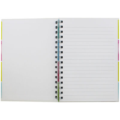 A5 Wiro Positive Mind Lined Notebook image number 2