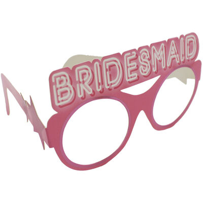 Pink Bride Squad Party Glasses - 9 Pack image number 2
