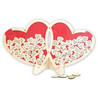 Double Wooden Heart Drop Box Frame