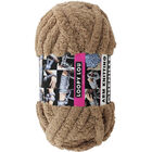 Loopy Lou Super Chunky Chenille Light Brown Yarn - 250g image number 1