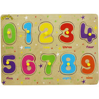 CBeebies My First Wooden Peg Board - Numbers