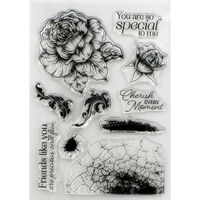 Crafter's Companion Collage Photopolymer Stamp - Cherish Every Moment