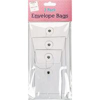 White Envelope Bags Pack Of 3