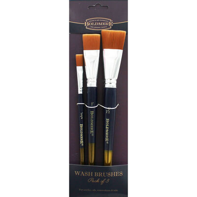 Wash Brushes - Pack Of 3 image number 1