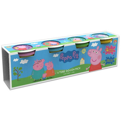 Peppa Pig Modelling Dough: Pack of 4 image number 1