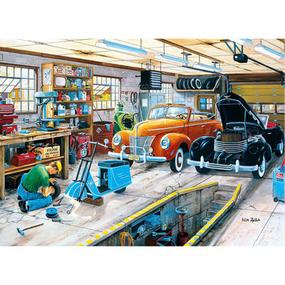Ford and a Cord 500 Piece Jigsaw Puzzle image number 2