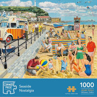 Seaside Nostalgia 1000 Piece Jigsaw Puzzle with Portapuzzle Deluxe Jigsaw Carrier Bundle