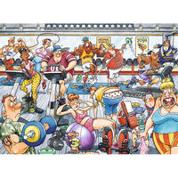 Wasgij Original 28 Dropping the Weight 1000 Piece Jigsaw Puzzle