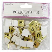 Dovecraft Essentials Metallic Letter Tiles - Gold - 150 Pieces