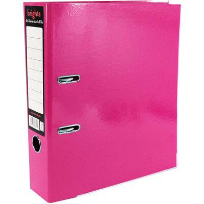 Bright Pink A4 Lever Arch File image number 1