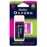 Helix Oxford Clash Eraser and Sharpener Pink