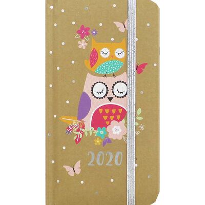 Brown Owl 2020 Slim Week to View Pocket Diary image number 1