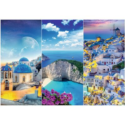 Greek Holidays 3000 Piece Jigsaw Puzzle image number 2