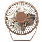 4 Inch Desk USB Fan Rose Gold image number 1