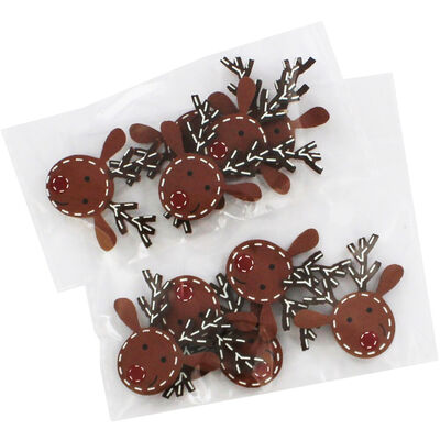 Wooden Reindeer Toppers Pack of 10 image number 1