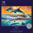 Dolphin Dawn 1000 Piece Silver-Foiled Premium Jigsaw Puzzle image number 1