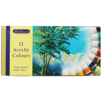Acrylic Colour Paint - Set Of 12 image number 1