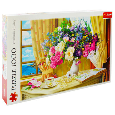 Flowers in the Morning 1000 Piece Jigsaw Puzzle image number 1