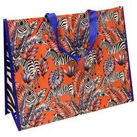 Tropical Zebra Reusable Shopping Bag