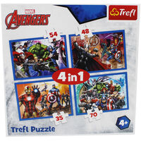 Avengers 4-in-1 Jigsaw Puzzle Set