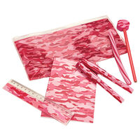 Pink Camo Stationery Set