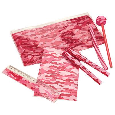 Pink Camo Stationery Set image number 1