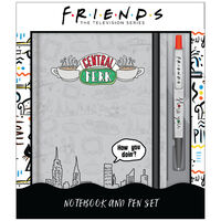 Friends A5 Casebound Notebook and Pen