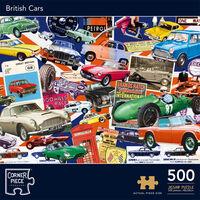 British Cars 500 Piece Jigsaw Puzzle