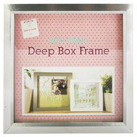 Silver Deep Box Frame: 20cm x 20cm