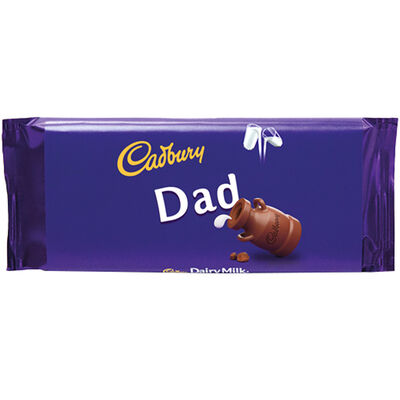 Cadbury Dairy Milk Chocolate Bar 110g - Dad image number 1